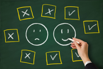 Positive feedback versus negative feedback