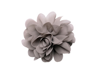 gray artificial flower isolated on white background