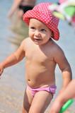 cute toddler in sea