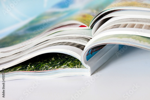 Leinwandbild Motiv Zeitschriften