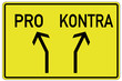 Pro Kontra Schild  #130412-svg04