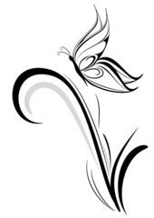 farfalla stilizzata tatuaggio
