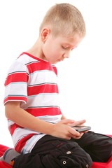 Child plays games on the mobile phone