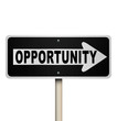 Opportunity One-Way Road Sign Chance for Success
