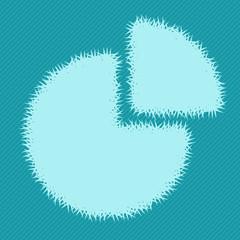 Graph icon of grass