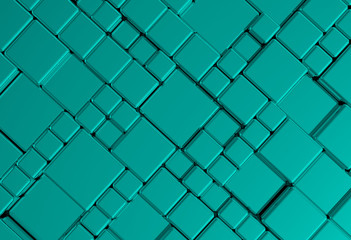 Steel blue cube mesh metal plate background