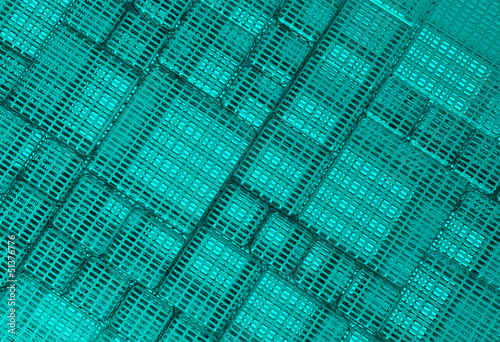 Steel blue cube mesh metal plate background