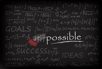 impossible on Chalk Board