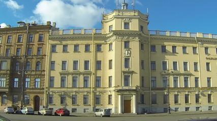 Facade of an old building in Petersburg.