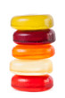 Bright candies isolated on a white background