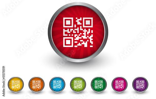 Buttonsammlung - QR-Code - Scan