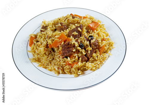 Traditional oriental pilaf
