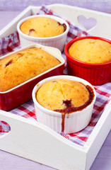 Berry puddings