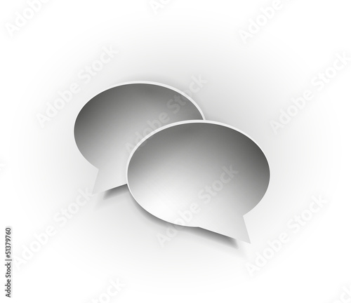 Paper speech bubble icons