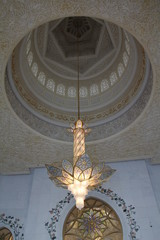Lustre mosquée Abu Dhabi