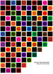 abstract vector background with colorful chessboard