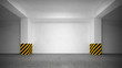 Abstract empty underground parking interior - 51380562