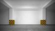 Leinwanddruck Bild - Abstract empty underground parking interior