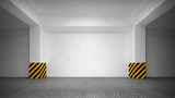 Fototapety Abstract empty underground parking interior