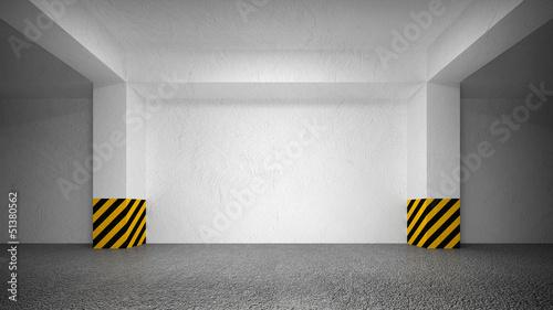 Leinwanddruck Bild Abstract empty underground parking interior