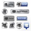 Collection of Social network elements for web design