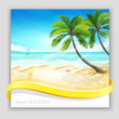Vector background tropical island.