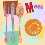 menu card design template for restaurant, free copy space, with