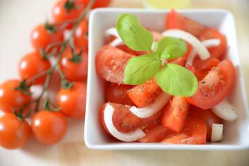 Zwiebel Tomaten Salat