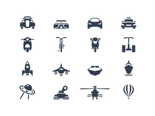 Transportation icons. Set 2
