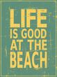 Vintage Beach Poster
