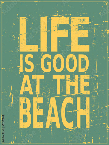 Vintage Beach Poster - 51381164