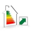 haus, euro, kosten, pfeil, grün, energieausweis, sanierung,