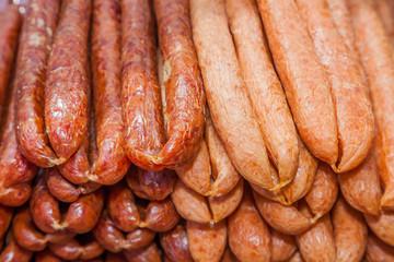 "Native Thai pork sausage called ""Koon Cheang"""
