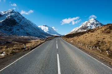 Road through Glencoe ,Scotland