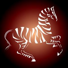 Vinous zebra