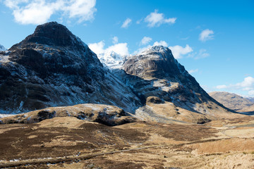 Glencoe in winter ,Scotland