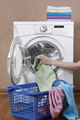 washing machine and laundry bin