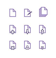 Icône fichier violet