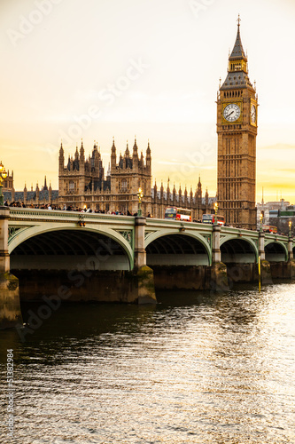 Big Ben Clock Tower and Parliament house at city of westminster,