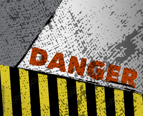 danger sign, hazard stripes,