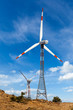 Wind generator turbines sihouettes