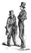 2 Men : Caricatures - 19th century