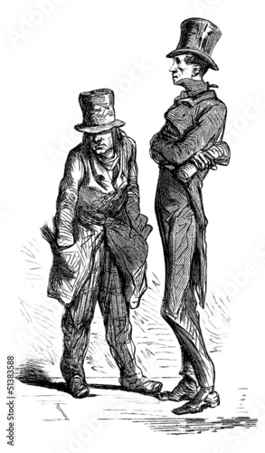 2 Men : Caricatures - 19th century