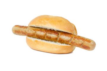 Bratwurst im Brötchen