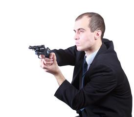 Proffesional man with gun