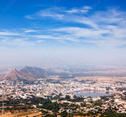Holy city Pushkar. . Rajasthan, India