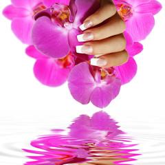 French Nails - schöne Spiegelung