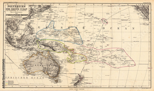 Pacific old map