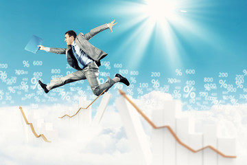 Image of jumping businessman