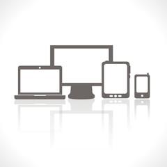 smartphone - tablette tactile - ordinateur - portable